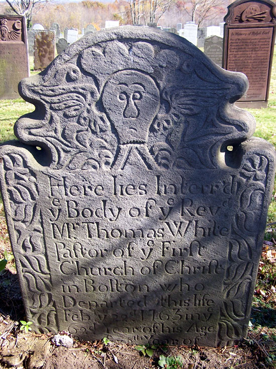 Rev. Thomas White Gravestone